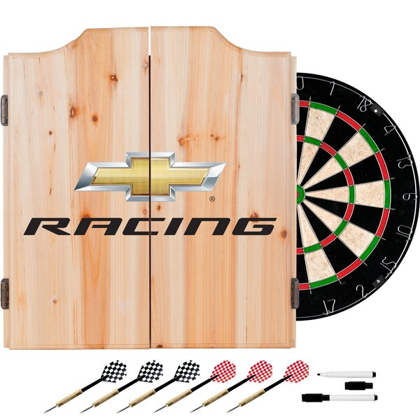 Chevy Racing Dartboard and Cabinet Set by Trademark Global