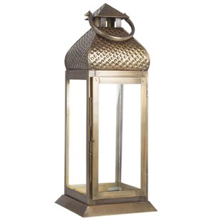 Affordable Antique Metal Lantern By World Menagerie