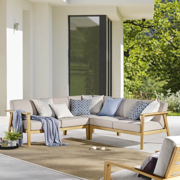 Lanett Patio Sectional with Cushion by Brayden Studio