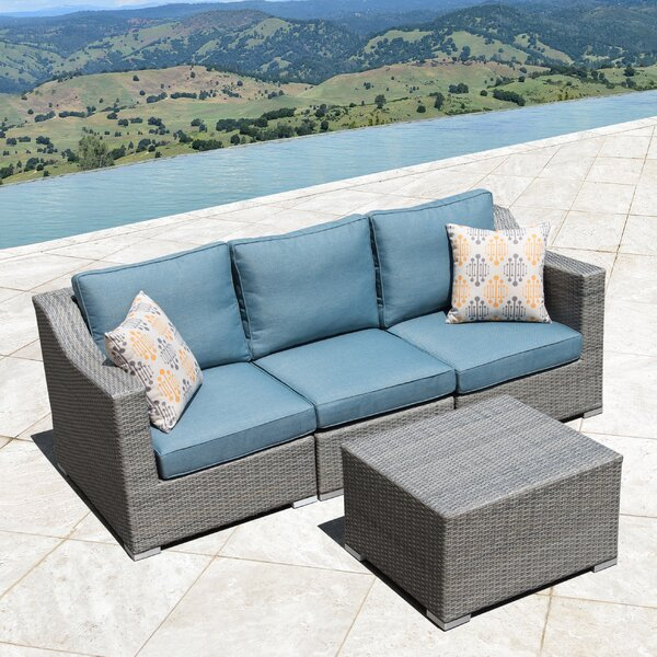 Bowser 4 Piece Sofa Seating Group with Cushions by Rosecliff Heights