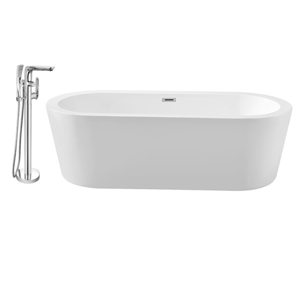 62 x 29 Freestanding Soaking Bathtub by Wildon Home ®