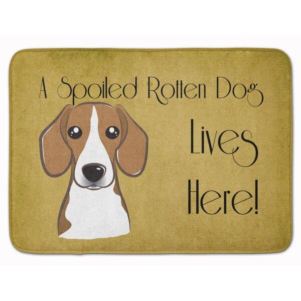 Beagle Spoiled Dog Lives Here Memory Foam Bath Rug by East Urban Home