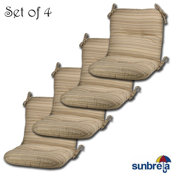 Indoor/Outdoor Sunbrella Lounge Chair Cushion (Set of 4) by Comfort Classics Inc.