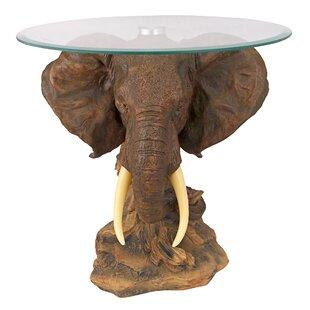 Lord Earl Houghton's Trophy Elephant End Table By Design Toscano