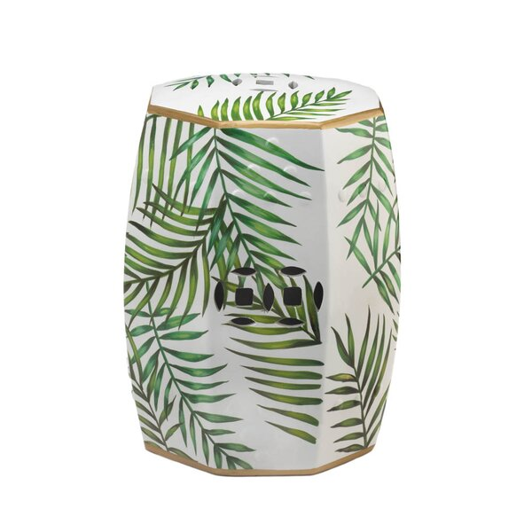 Illman Island Palms Decorative Garden Stool by Bay Isle Home