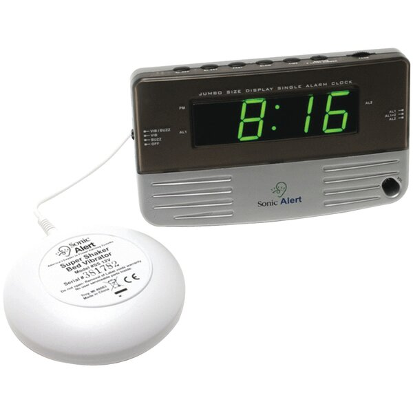Sonic Boom Travel Alarm Tabletop Clock by Symple Stuff