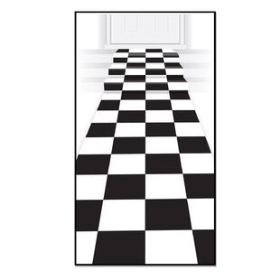 black and white checkered rug wayfair