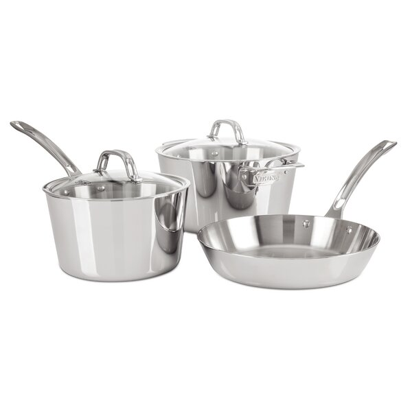 5 Piece Non-Stick Stainless Steel Cookware Set by Viking