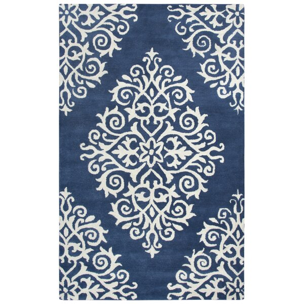 Gage Hand-Tufted Wool Navy Area Rug by Darby Home Co
