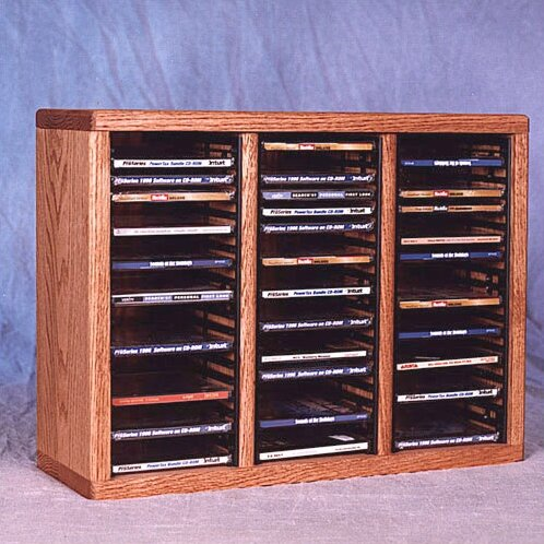 300 Series 60 CD Multimedia Tabletop Storage Rack by Wood Shed