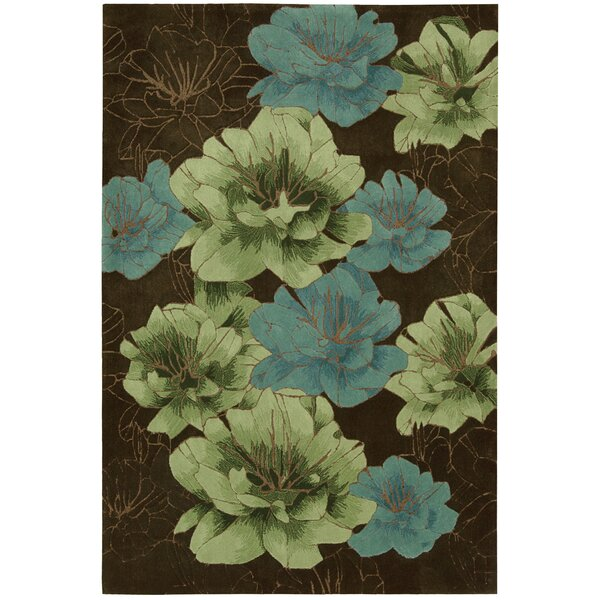 Palisades Joshua Blossom Hand-Tufted Brown/Green/Blue Area Rug by Kathy Ireland Home