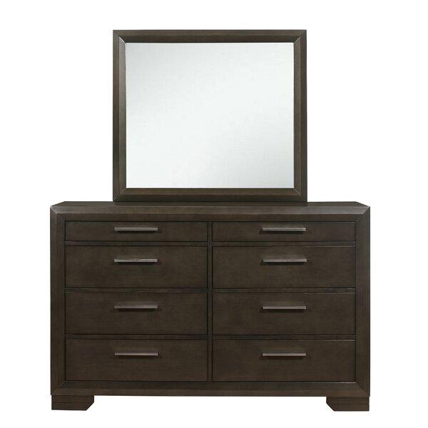 Erardo 8 Drawer Double Dresser with Mirror by Latitude Run
