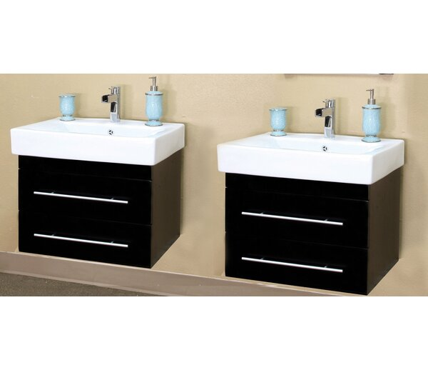 Pickering 49 Double Wall-Mounted Bathroom Vanity Set by Bellaterra Home