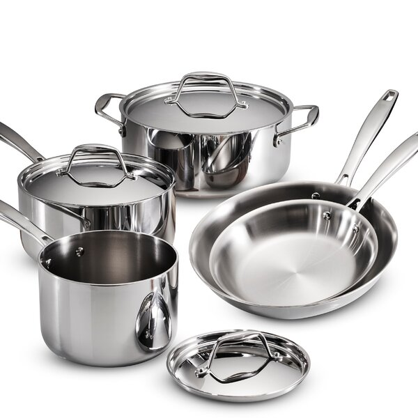 Gourmet Tri-Ply Clad 8 Piece Cookware Set by Tramontina