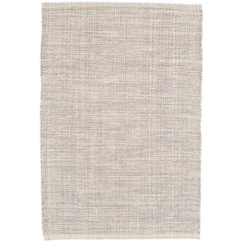 Marled Gray Cotton Area Rug