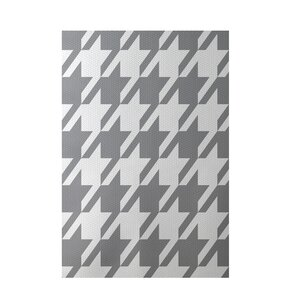 Geometric Gray Indoor/Outdoor Area Rug