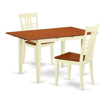 3 Piece Dining Set East West Furniture