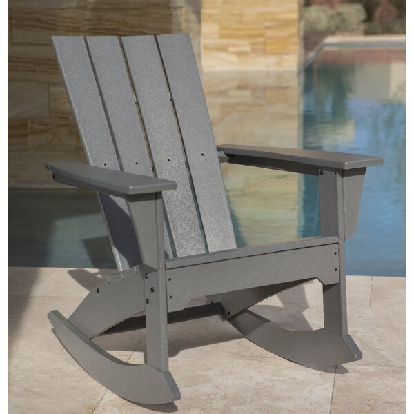 Quattro Plastic Rocking Adirondack Chair by POLYWOOD POLYWOOD®