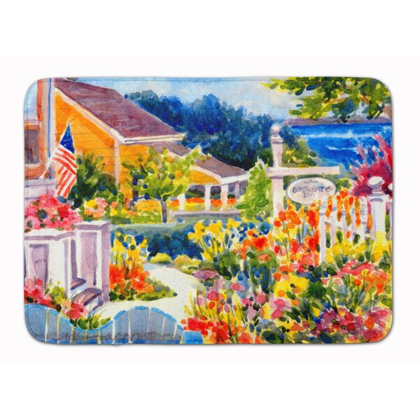Mooresville Seaside Beach Cottage Memory Foam Bath Rug by Rosecliff Heights