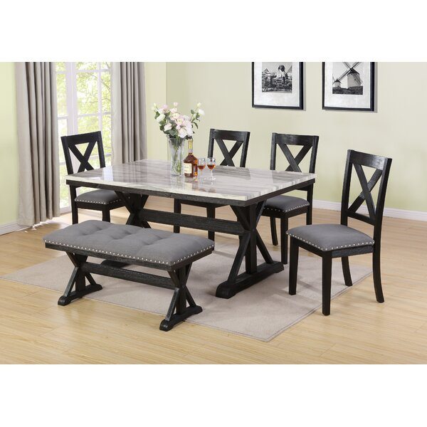 Nicki 6 Piece Dining Set by Darby Home Co