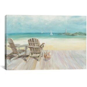 Seaside Morning No Window Graphic Art on Wrapped Canvas by Beachcrest Home