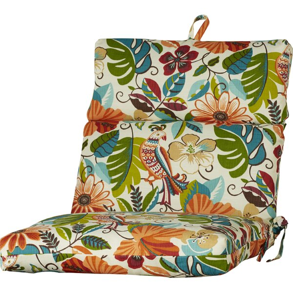 Indoor/Outdoor Tree And Bird Dining Chair Cushion by Bay Isle Home