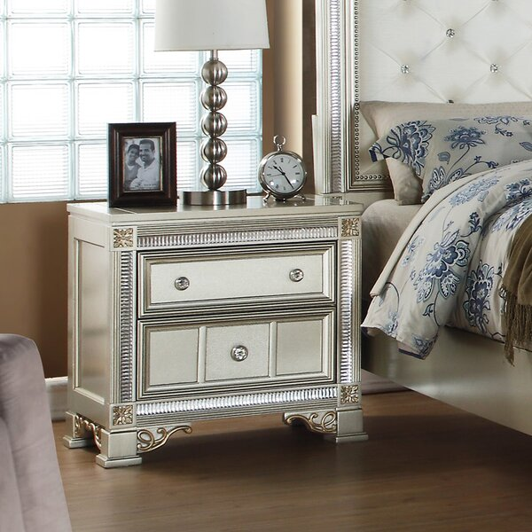 Skaggs 2 Drawer Nightstand by House of Hampton