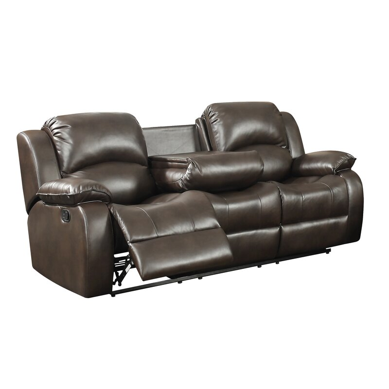 Alcott Hill Carrington Transitional Reclining Sofa With Drop Down