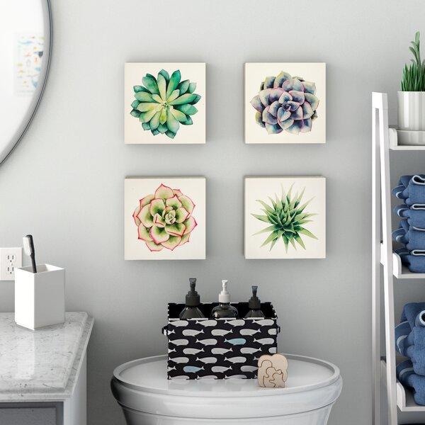 Succulents 4 Piece Print Set On Canvas By Wrought Studio.