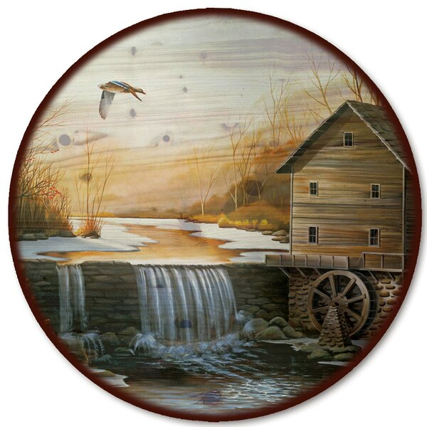 The Old Mill Lazy Susan by WGI-GALLERY
