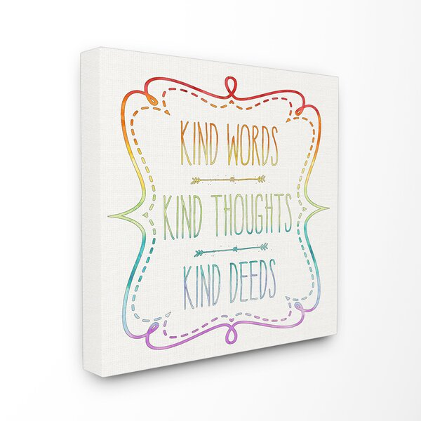 Kind Words Thoughts and Deeds Canvas Wall Art by Stupell Industries