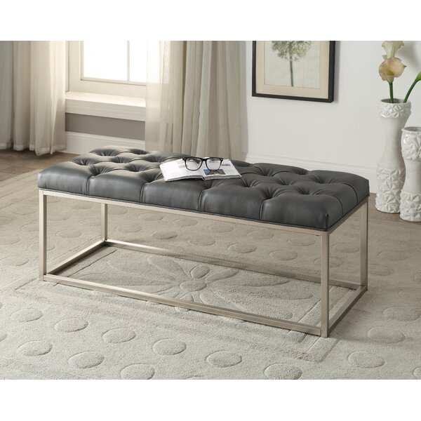 Yoakum Button-Tufted Upholstered Bench by Mercer41