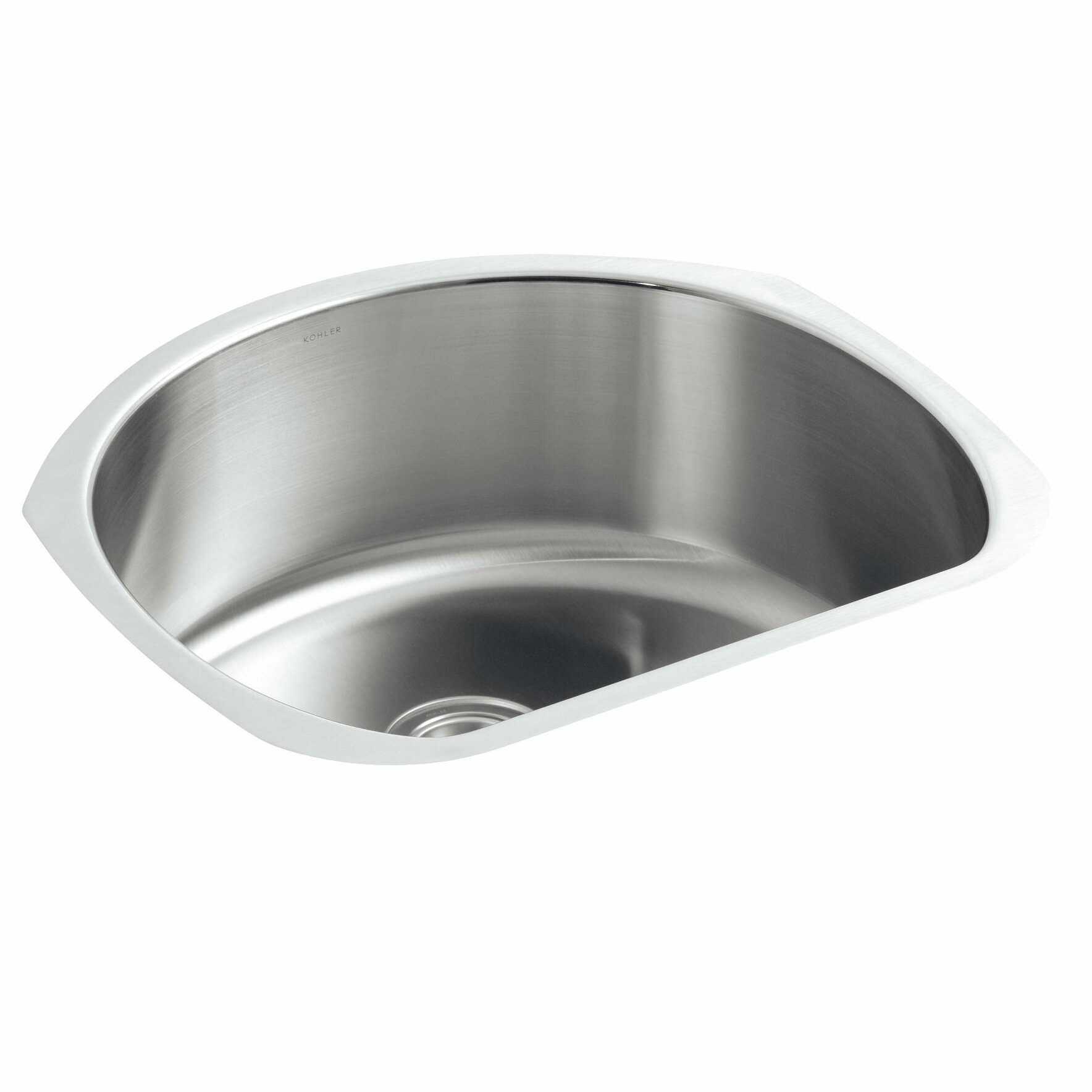 Kohler Undertone 24 1 4 L X 21 W 9 2 Under Mount Medium D Shaped Single Bowl Kitchen Sink Wayfair