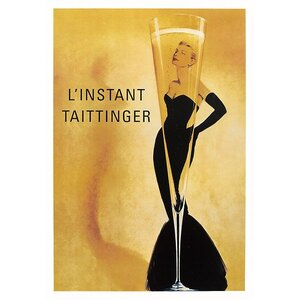 Champagne Taittinger Vintage Advertisement on Wrapped Canvas by Printfinders