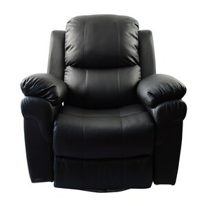MCombo Vibrating Swivel Reclining Massage Chair with Heated Lounge by Newacme LLC
