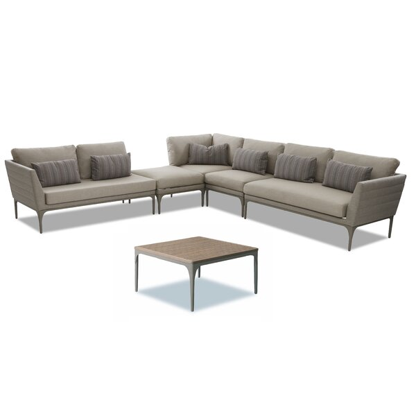 Hetton 6 Piece Sectional Seating Group Brayden Studio W001841993