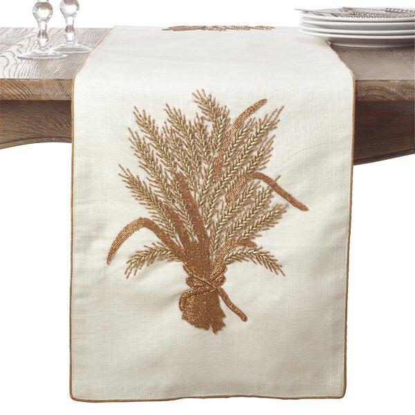 Flori Beaded Harvest Thanksgiving Table Runner by August Grove