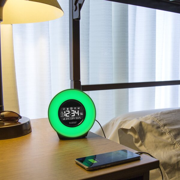 Mood Light Alarm Tabletop Clock by La Crosse Technology