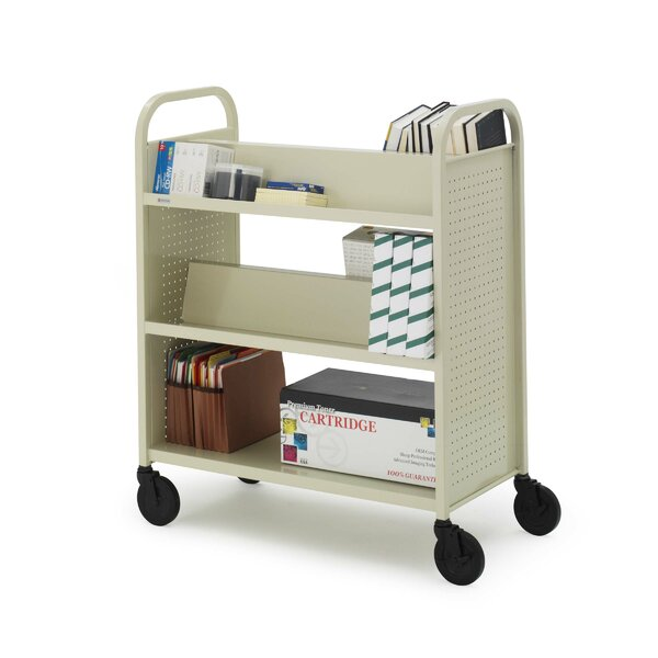Double-Sided Book Cart by Bretford Manufacturing Inc
