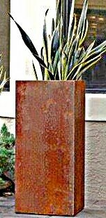 Autumnus Column Raw Corten Steel Planter Box by Bloomsbury Market