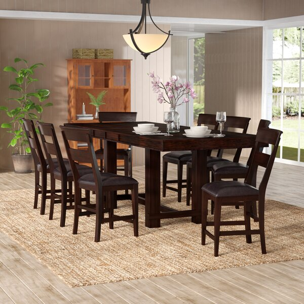 Townson 9 Piece Counter Height Dining Set by Charlton Home