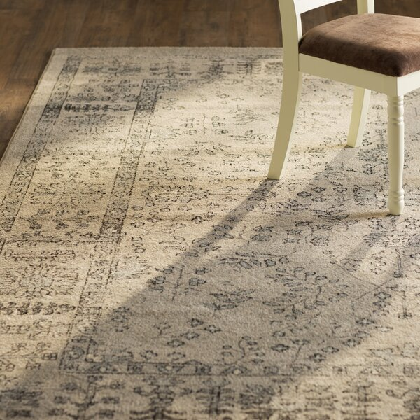 Harwick Beige and Blue Area Rug by Charlton Home