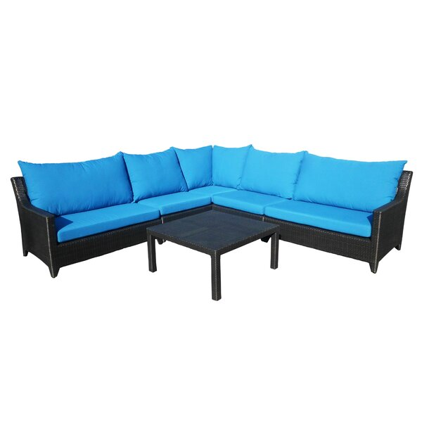 Molimo Sectional Sunbrella Seating Group with Cushions by Red Barrel Studio
