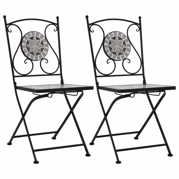 Jolien Living Folding Patio Dining Chair (Set of 2) by Fleur De Lis Living