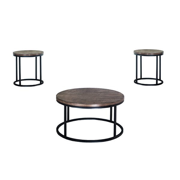 Brockman 3 Piece Coffee Table Set by Williston Forge