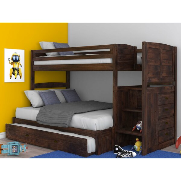 Goffredo Twin Over Full Bunk Bed with Trundle and Drawers by Birch Lane™ Heritage
