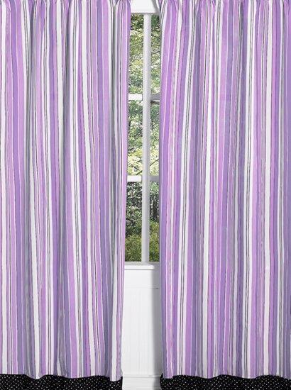 Kaylee Striped Semi-Sheer Rod pocket Curtain Panels (Set of 2) by Sweet Jojo Designs