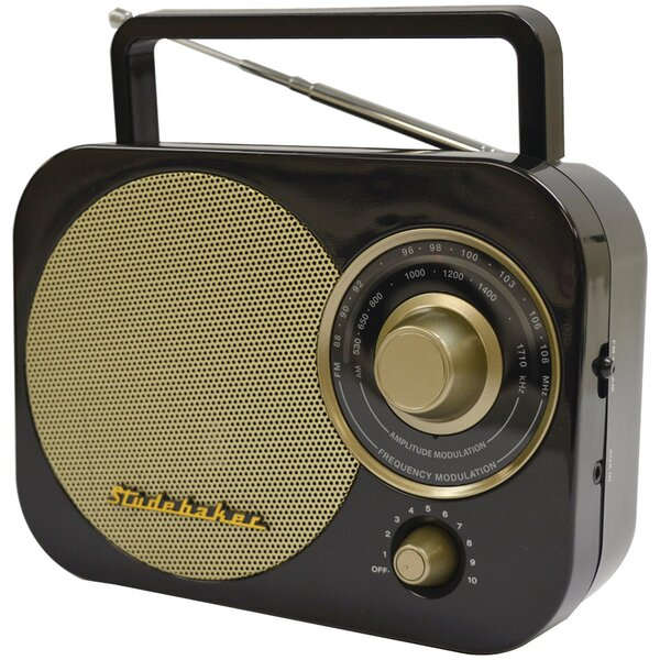 Portable AM/FM Radio by Studebaker