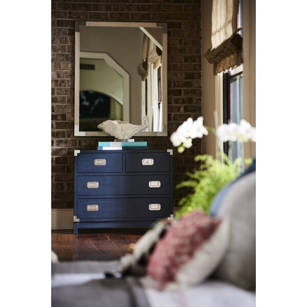 Campaign 4 Drawer Double Dresser with Mirror by CoastalLiving