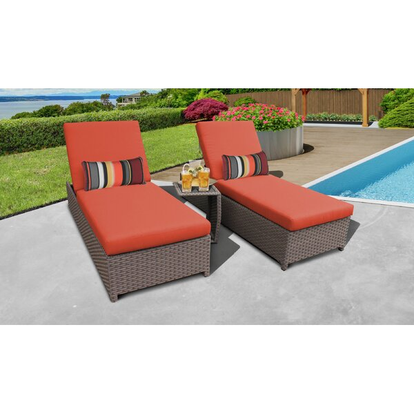 Rochford Sun Lounger Set with Cushion and Table by Sol 72 Outdoor Sol 72 Outdoor